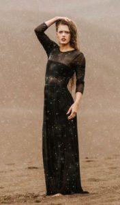 black naked dress