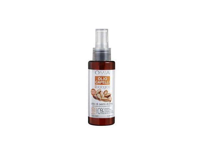 Olio ai semi di lino Omia: per capelli forti e lucenti
