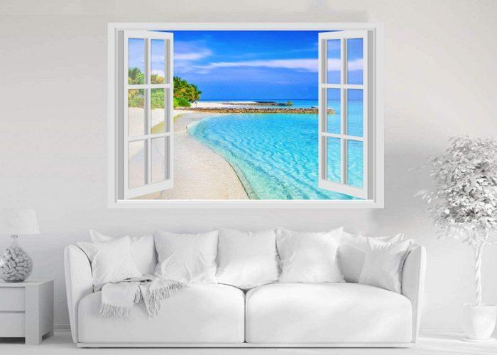 trompe loeil finestra sul mare