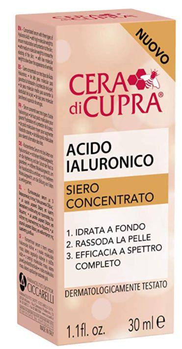 acido ialuronico siero concentrato viso Cera di Cupra